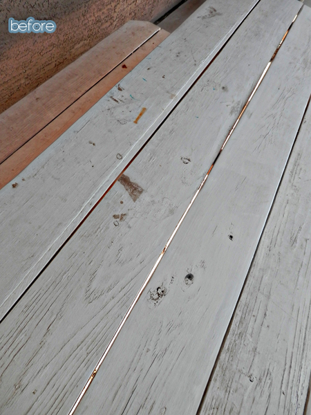 Flood staining made simple and sweepstakes better after for Exterior wood stain flood