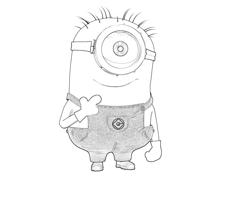 #6 Despicable Me 2 Coloring Page