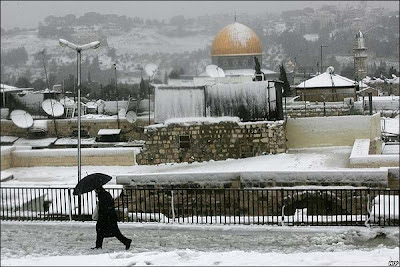 Jerusalen cubierta de nieve, Marzo 2012