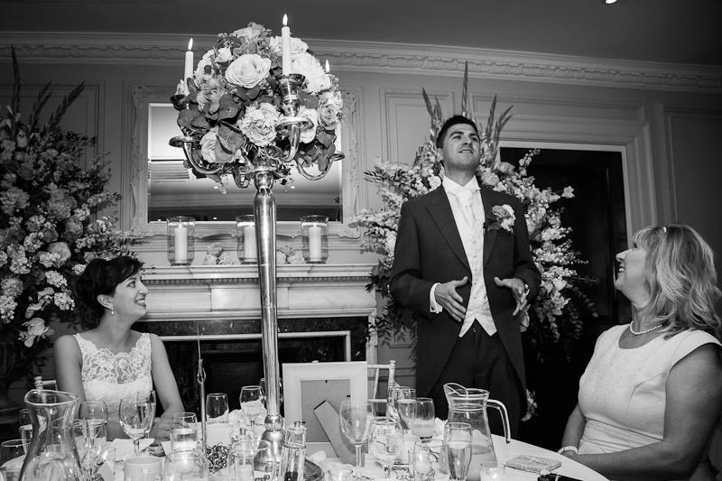 wedding reception breakfast dinner groom bride speech wedding flowers