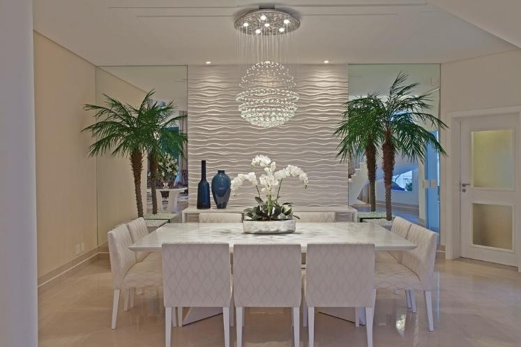 Construindo minha casa clean 25 pain is geom tricos 3d for Sala de estar com papel de parede 3d