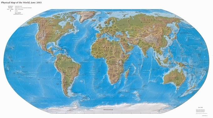 Mapa f sico del mundo - Papel pintado mapa del mundo ...