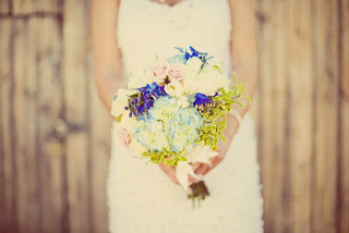 Signature Flowers and Events created Heather's wedding bouquet