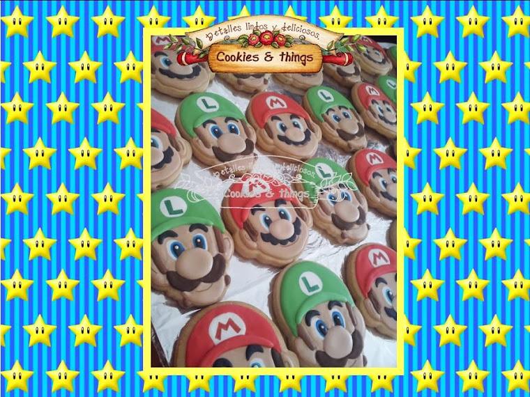 Mario y Luigi galletas