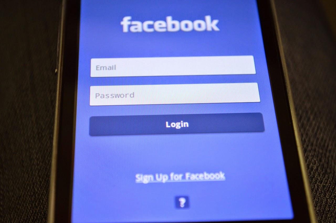 Facebook Login Screen On Smartphone