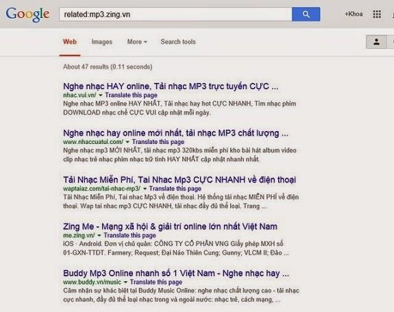 hướng dẫn tìm các website tương tự nhau