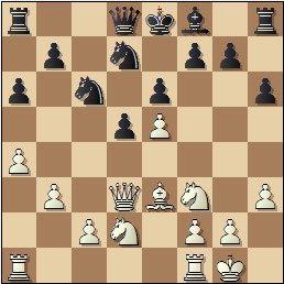 Partida de ajedrez Rosa Borao vs. Sofía Ruiz, 1951, posición después de 14.0-0?