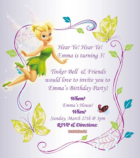 Fairy Birthday Party Invite