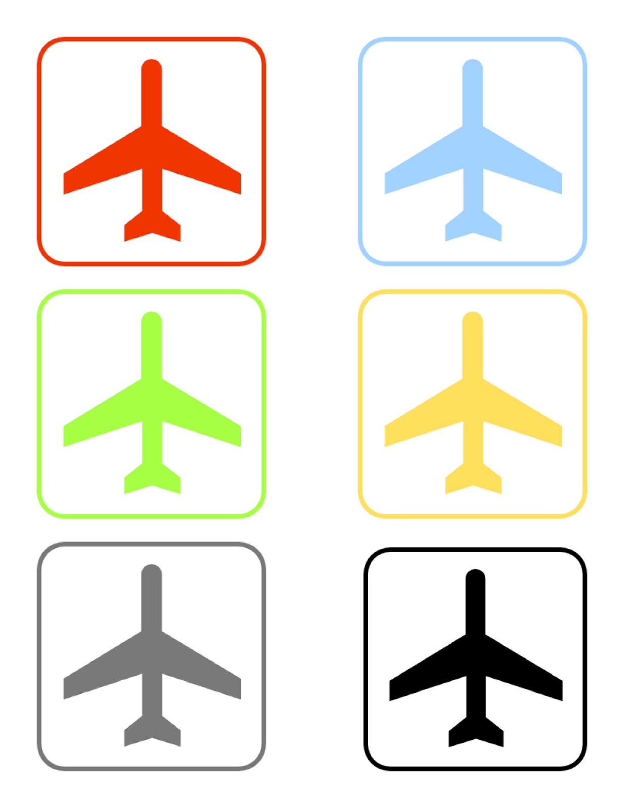Canny image with airplane printable