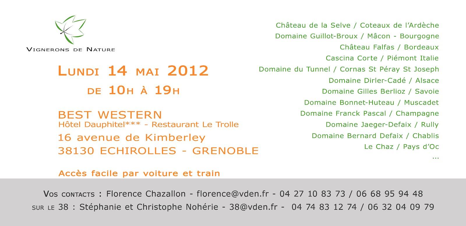 Ch teau de la selve salon pro vignerons de nature le 14 for Salon vin grenoble