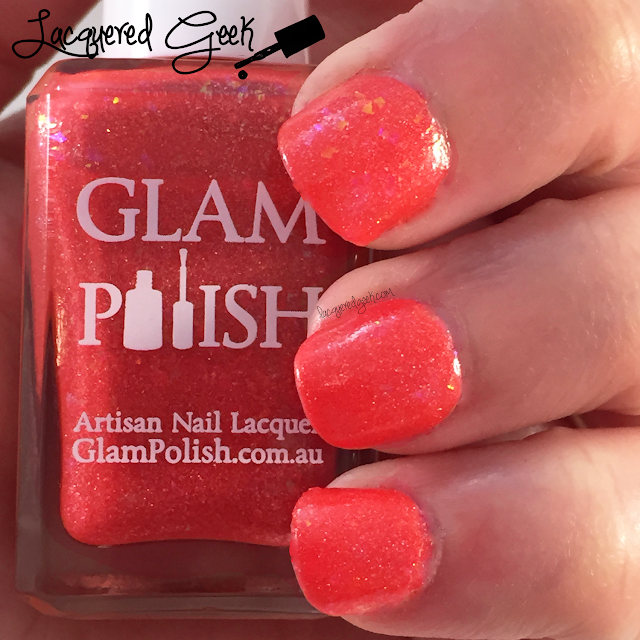 Glam Polish Hibiscus nail polish swatch by Lacquered Geek