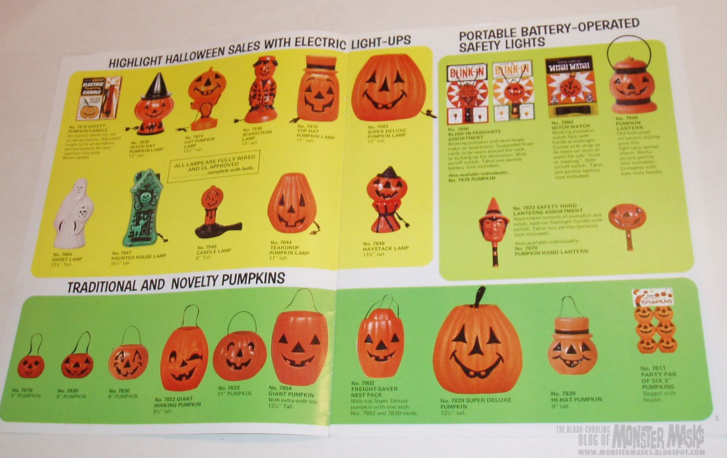 bayshore halloween catalog may be low resolution but theyll still put a smile on the face of any halloween fan with these pages of classic blow mold - Halloween Catalogs