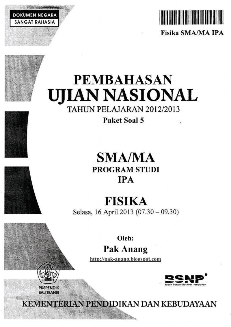 Pembahasan Soal Un Fisika Sma 2014 (trik Superkilat) (paket 5)