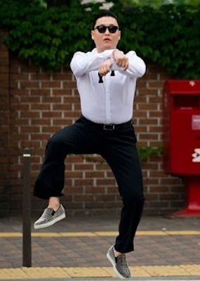 Psy showing off his gangnam style