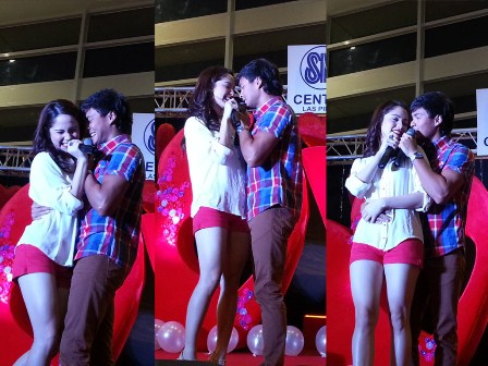 Jessy and Matteo super sweet in mall show