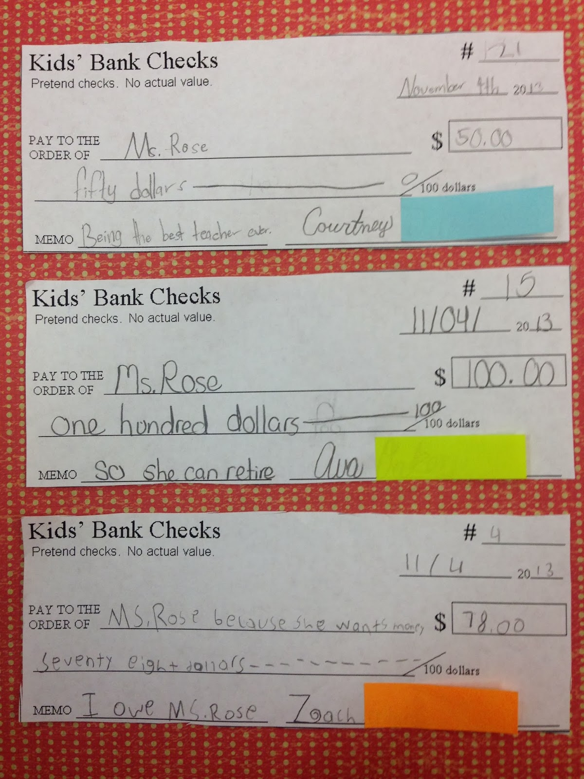 How to Write a Check to a Child