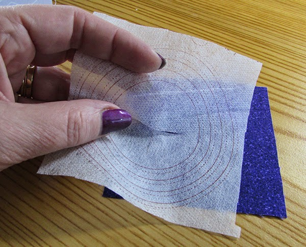 using quiltsmart circle interfacing
