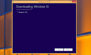 how to install windows 10 progress