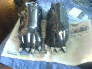 alien costume feet