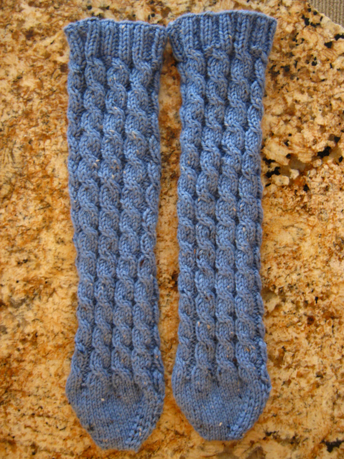 Easy Bed Socks Knitting Pattern 2 Needles : Holly Marie Knits: New Free Pattern! Toe-up Cabled Bed Socks