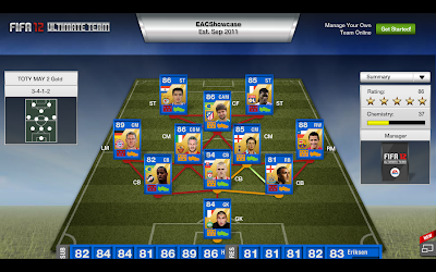 FIFA 12 Ultimate Team Gold TOTY