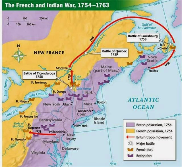 French And Indian War Map Worksheet