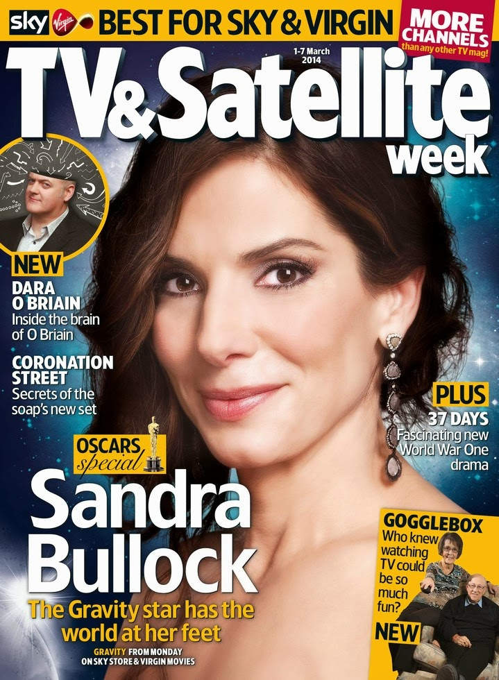 Sandra Bullock, March 2014, Magazine Cover, TV & Satellite Week Magazine , TV & Satellite Week