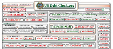 Click on national debt clock below...