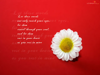 Flower Love Words