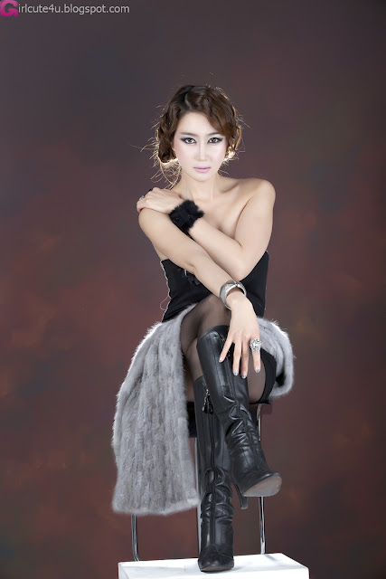 4 Han Chae Yee - Gorgeous Black-very cute asian girl-girlcute4u.blogspot.com