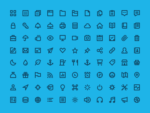 Flat Design Icons Sets