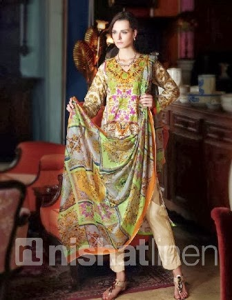 Nishat Summer Dresses 2014