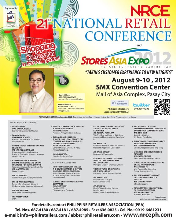 21st National Retail Conference (NRCE) and Stores Asia Expo 2012