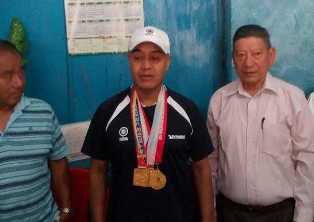 Trilok Subba wins three gold medals in South Korea Taekwondo championship