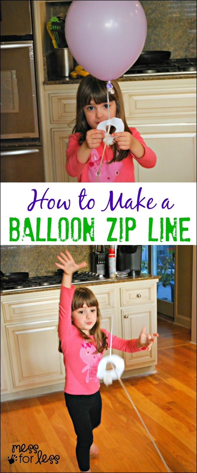 How To Build A Zip Line: Make A Balloon Zip Line