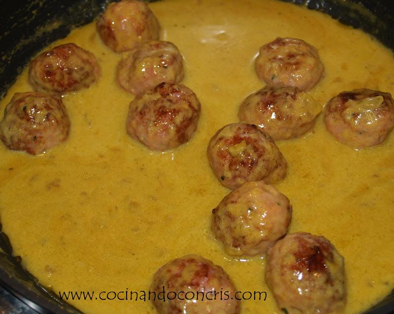 Cocinando con cris alb ndigas en salsa de curry - Acompanamiento para albondigas ...
