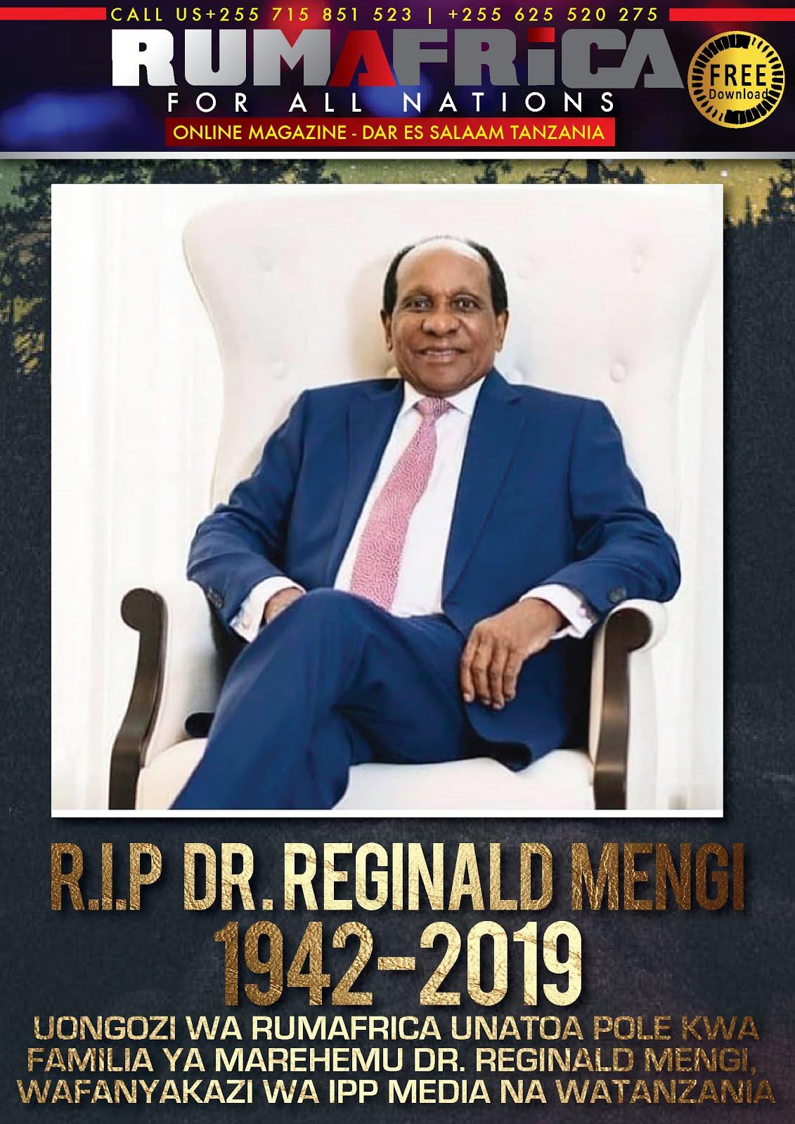 R.I.P DR. REGINALD MENGI