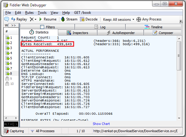 Sending large messages in wcf with mtom