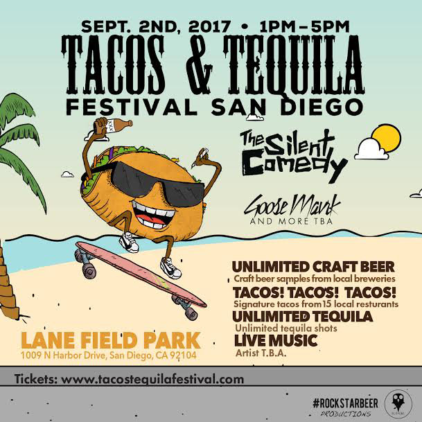 Promo code SDVILLE saves $5 per ticket to the San Diego Tacos & Tequila Festival - September 2!