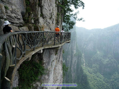 Cliff side steps in China