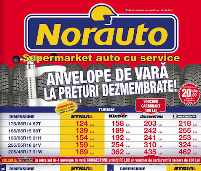 Catalog NORAUTO Anvelope de Vara la Preturi Dezmembrate