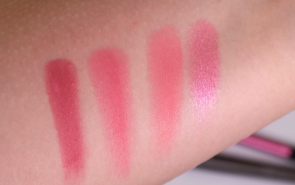 Makeup Revolution 'Sugar & Spice' Blush & Contour Palette Swatches