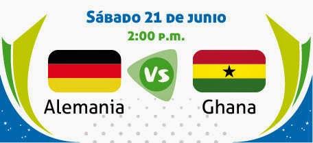 Ver Alemania vs Ghana
