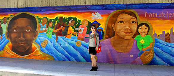 Katie Yamasaki Covenant House New York Mural