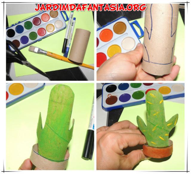 Mandacaru Atividade Artes Manuais Pintura e Reciclagem