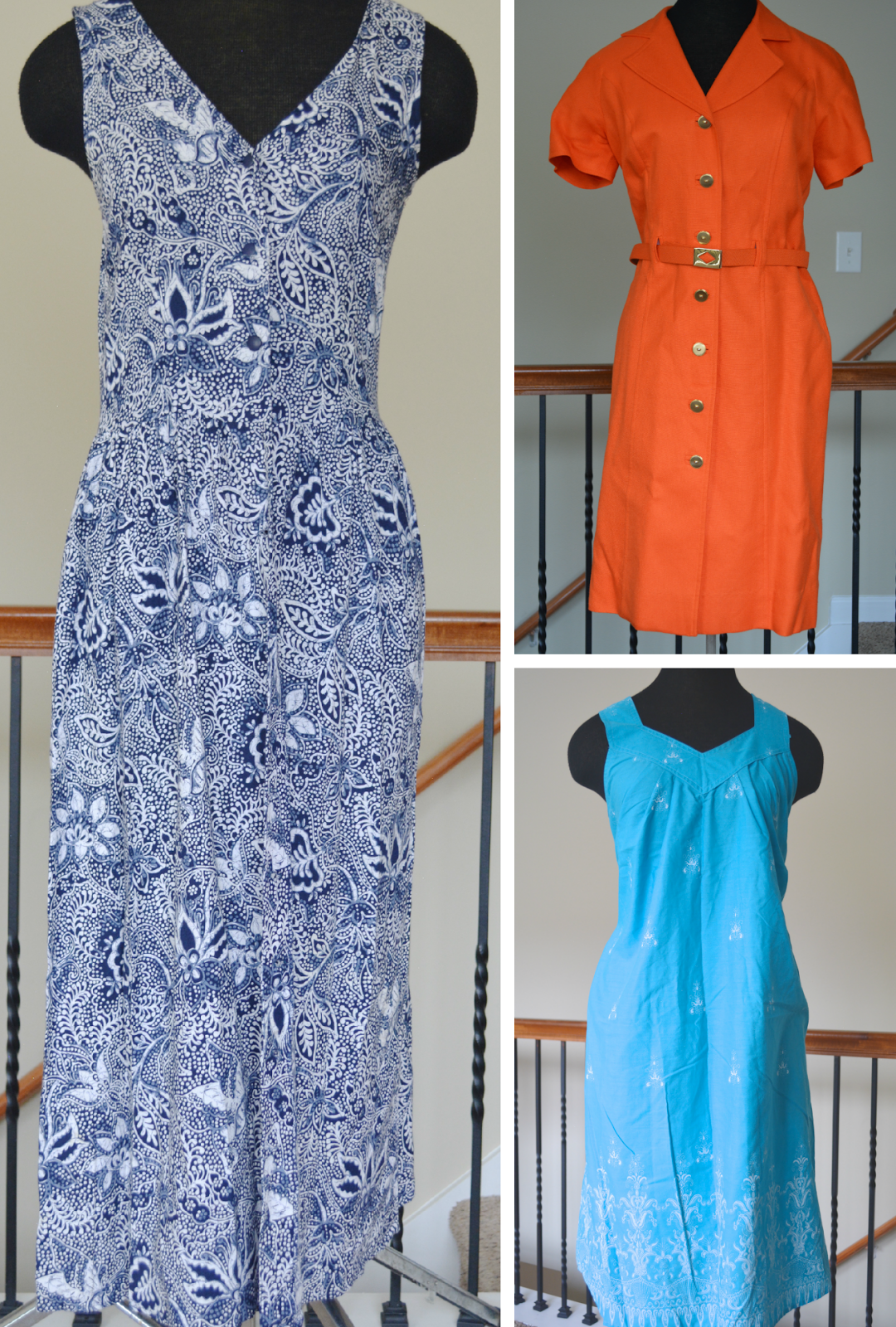 thrift haul goodwill vintage dresses