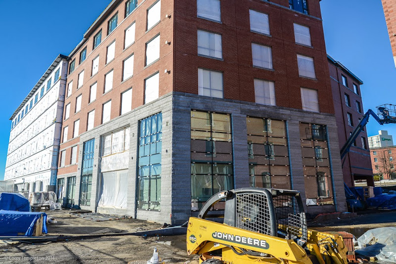 Portland, Maine USA Courtyard by Marriott Hotel Commercil Street under construction by Corey Templeton