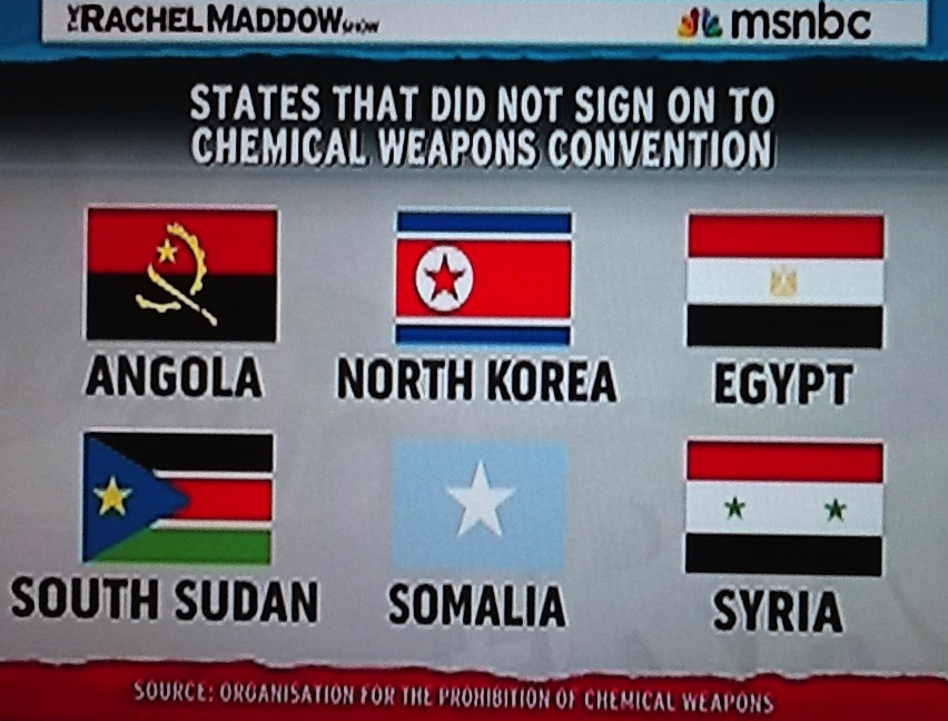 Wide Asleep in America: Rachel Maddow and Chemical Weapons ...