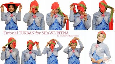 Cara Memakai Jilbab Turban REENA Style