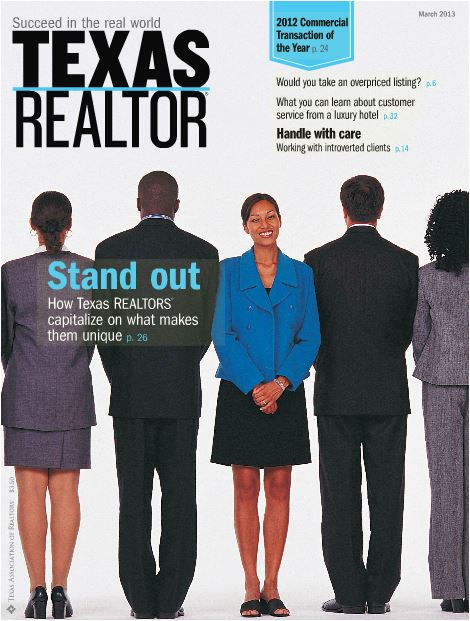 Front Cover of March Texas Realtor Magazine